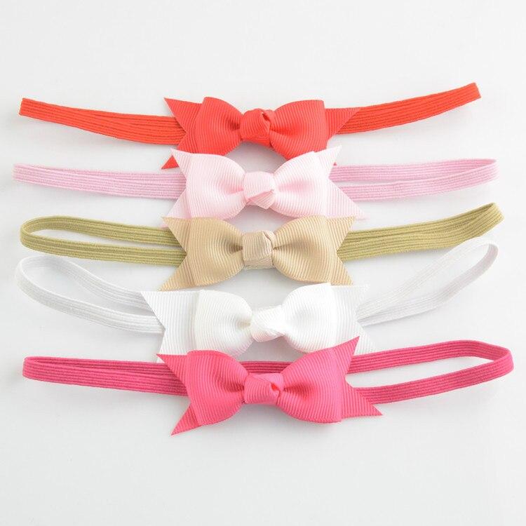 20 unids/lote, diadema para niñas con lazo, accesorios para el cabello para niños, cinta de grogrén, diademas con lazo, regalo de Navidad F109