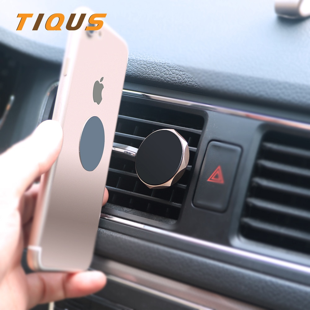 TIQUS Universal Car Phone Holder 360 Degree GPS Magnetic Mobile Phone Holder For iPhone 7 Samsung S8