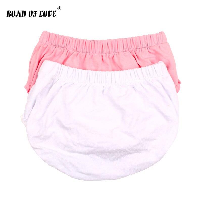 Pantalones cortos de bebé recién nacido Bebé Ropa interior de Color sólido bebé PP pantalones cortos de playa de verano Harem pantalones cortos de algodón niños Bloomer