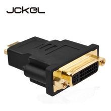 JCKEL Mini double lien DVI i 24 + 5 mâle vers un câble adaptateur HDMI mâle connecteur dvi-i séparateur convertisseur Jack cordon de fil pour PC HDTV