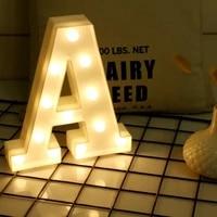new led luminous letter night light creative 26 english alphabet bedroom children room party club bar clothing stores light desk
