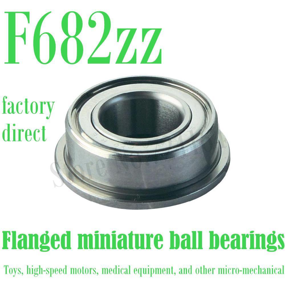 50 piezas envío gratis F682ZZ reborde teniendo LF520ZZ FBX2ZZ FLW682 ZZA F682-2Z ULKZ205 2*5*2,3mm miniatura bola rodamientos