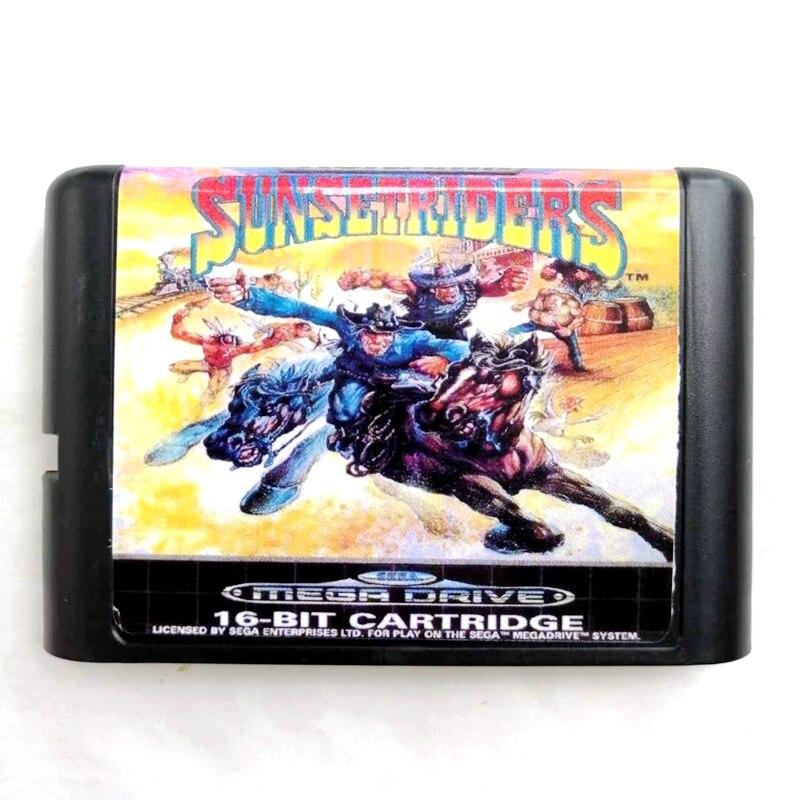 Carte mémoire Sunset Riders 16 bits MD pour Sega Mega Drive 2 pour SEGA Genesis Megadrive