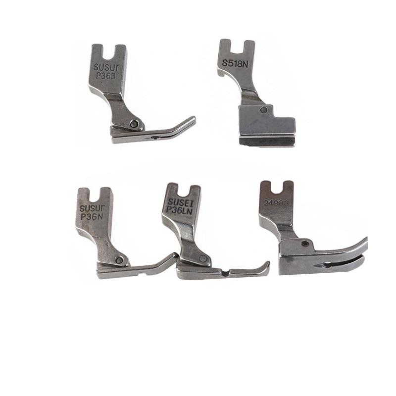 5 uds prensatelas para Juki Máquina De Coser Industrial S518N P36LN P36N P35 P363 (plata) 5BB5109