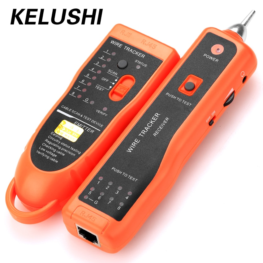 KELUSHI, probador de diagnóstico XQ-350 para UTP STP Cat5 Cat6 RJ45, localizador de línea de Cable de red LAN, rastreador/rastreador de Cable telefónico RJ11