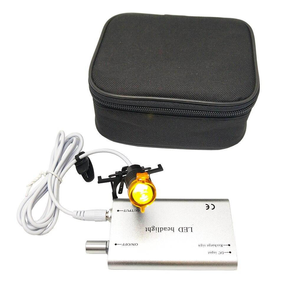 Clip de 3W, Luz LED frontal para cirugía Dental, lámpara frontal LED para cirugía dental, Binocular médico para lupas CE