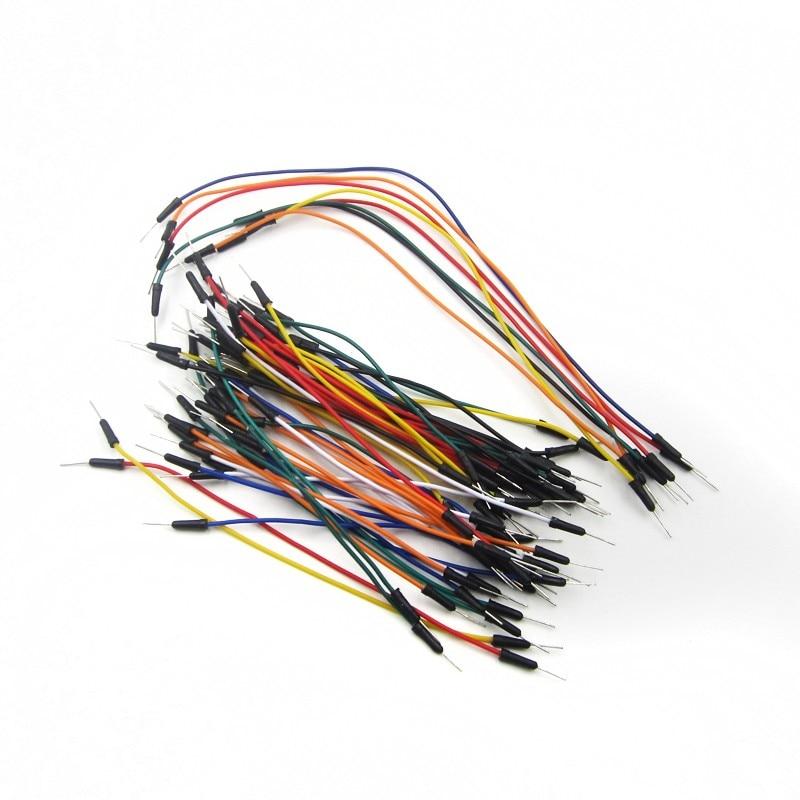 Smart Elektronik Jump Draht Kabel Stecker-stecker Flexible Jumper Drähte für arduino Breadboard DIY Starter Kit 65 teile/los