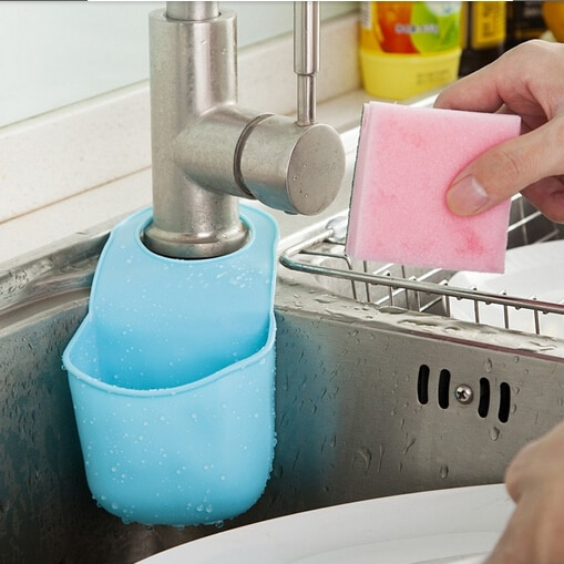 19,5x8,5 cm Pvc Mini baño Hasp gancho estantes jabonera cocina plato soporte para esponja y paño almacenamiento #03