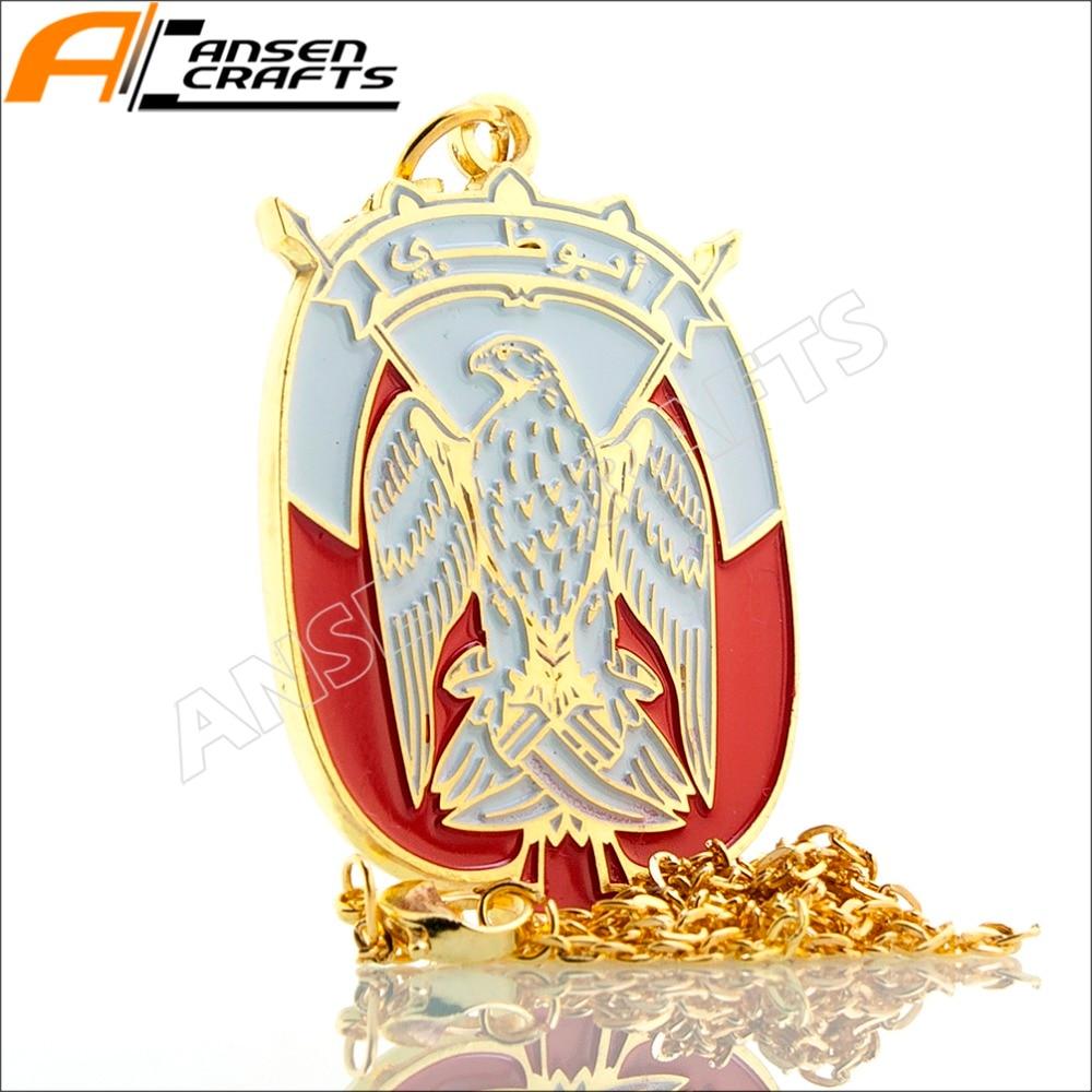 Medalla de collar de oro de los Emiratos Árabes Unidos del Halcón de Abu Dhabi