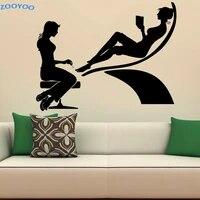 ZOOYOO     autocollants muraux en vinyle pour Salon de beaute  a la mode  pour decoration de maison  pedicure