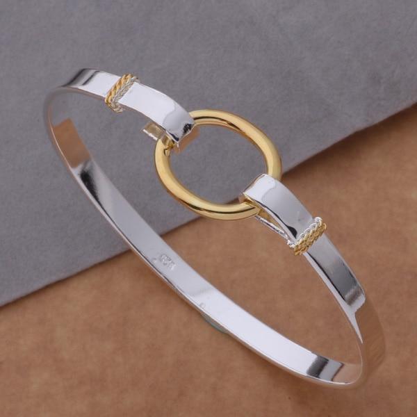 AB023 Hot  sterling  bangle bracelet,   fashion jewelry Color separation O bracelet /afiaiwpa ahyaizfa silver color