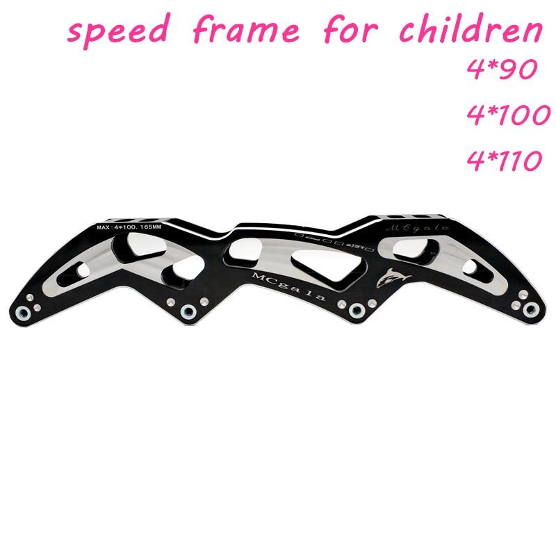 Envío Gratis Marco de patines de velocidad 4*90mm mcgala niños Marco de patines de velocidad