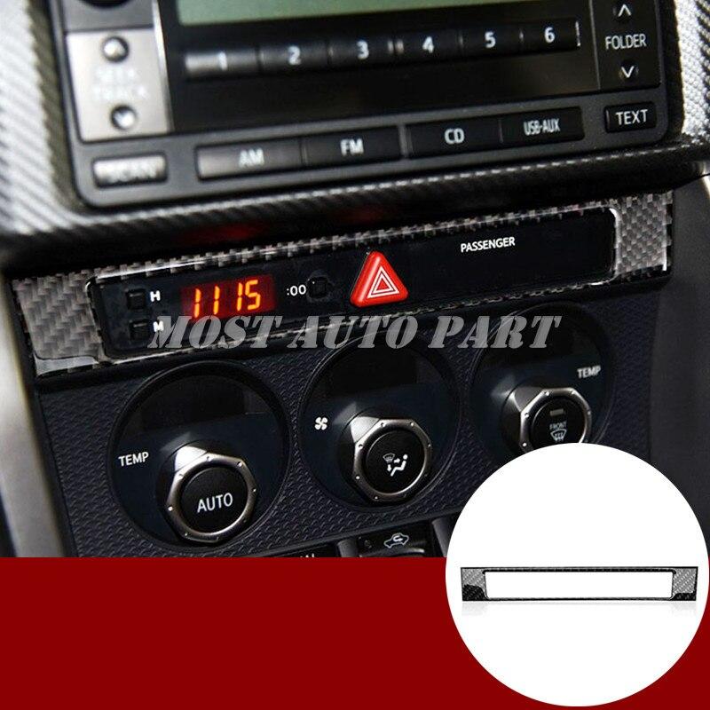 Cubierta de marco de Control de consola de fibra de carbono para Toyota 86 GT86 Scion FR-S 2012-2018