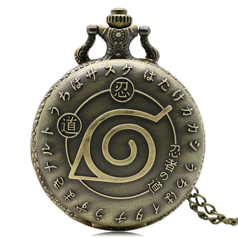 Steampunk Clock Naruto Ninja Quartz Pocket Watch Vintage for Men Women Woman Pocket Watch Necklace Relogio De Bolso Gifts color diamond case cover pocket watch girls sailor moon dial for female fancy red moon pendant clock accessory relogio de bolso