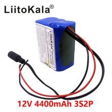 Liitokala 12V 4.4Ah 4400mAh 18650 Lithium-ionen Akku PCB Schutz platte CCTV Cam Monitor UES + 12,6 V 1A Batterie Ladegerät
