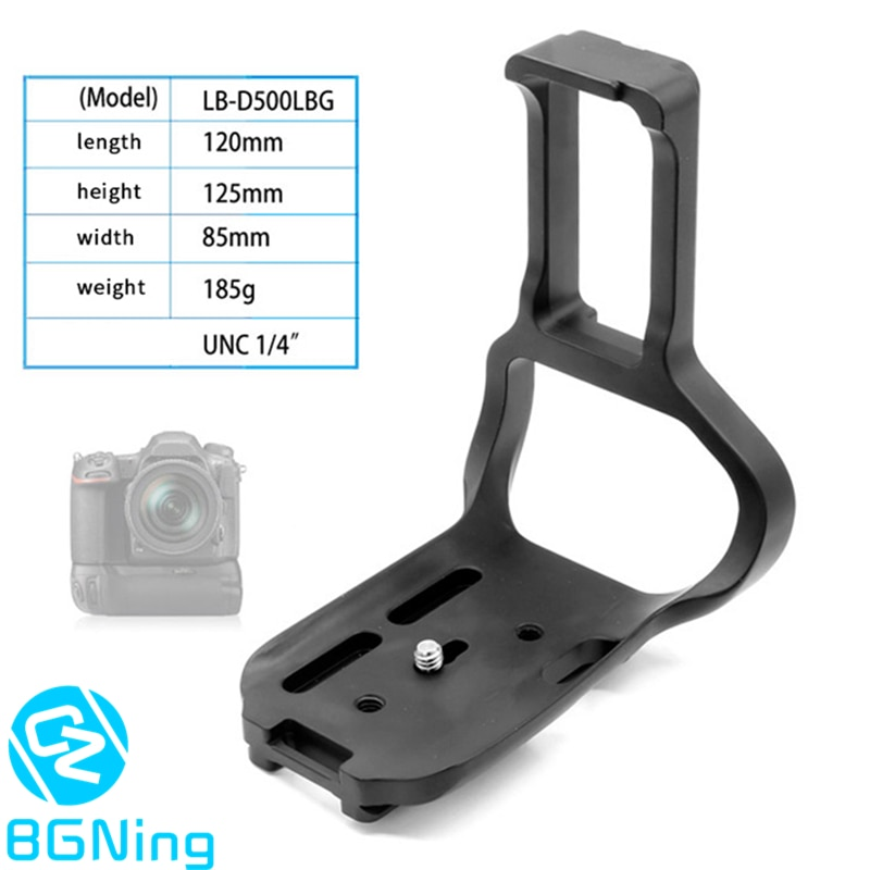 Professional Tripod Quick Release Plate Mounting Adapter Bracket for Nikon D500 DSLR Interface Width