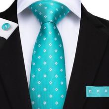 MJ-7167 DiBanGu Men Tie Fashion Mens 8cm Turquoise Silk Neckties Gravata Jacquard Woven Mans Wedding Dress Shirt Accessories