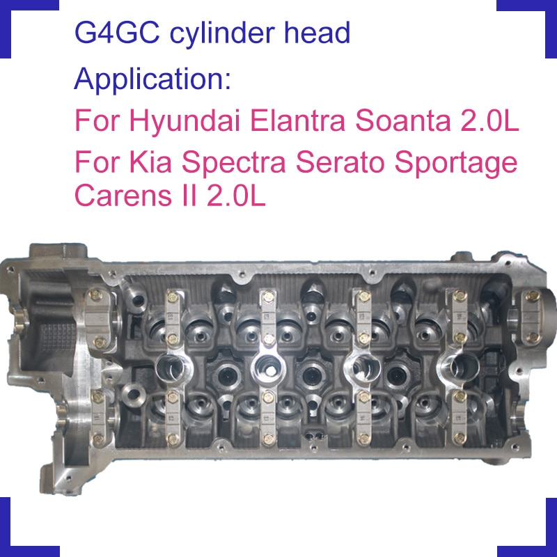 Auto parts G4GC bare engine cylinder head for Hyundai Elantra Sonata Kia Spectra Serato Carens II Sportage 2.0cc 22100-23780