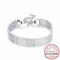 lekani womens fashion bracelet 925 sterling silver soft watchband charm bracelet bangles fine jewelry pulseiras de prata