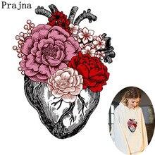 Prajna 붉은 꽃 하트 스티커 인쇄 철제 열전달 꽃병 심장 유니콘 diy 귀여운 전송 나비 저렴한 장식 h