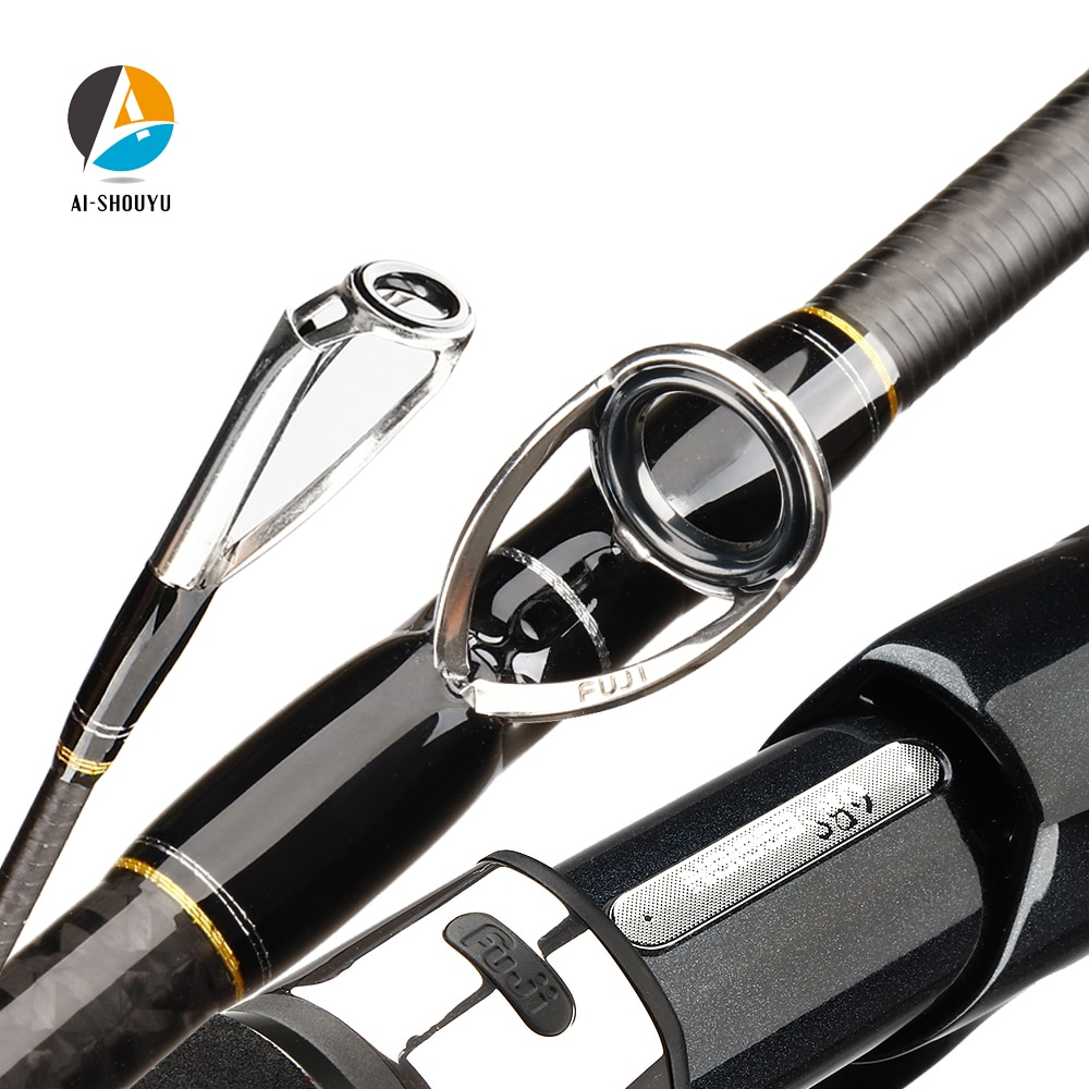 AI-SHOUYU Toray Carbon Slow Jigging Rod 1.98m 4AXIS 180 Degree Spiral Guide Ring Carbon Cloth Casting Rod EVA GRIP Casting Rod enlarge