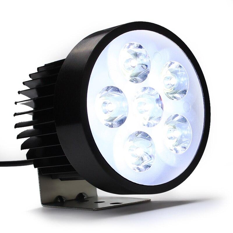 LEEPEE 18W brillante motocicleta faro 6 LED antiniebla Práctica luz de cabeza Offroad conducción luces de trabajo Durable 12-80V