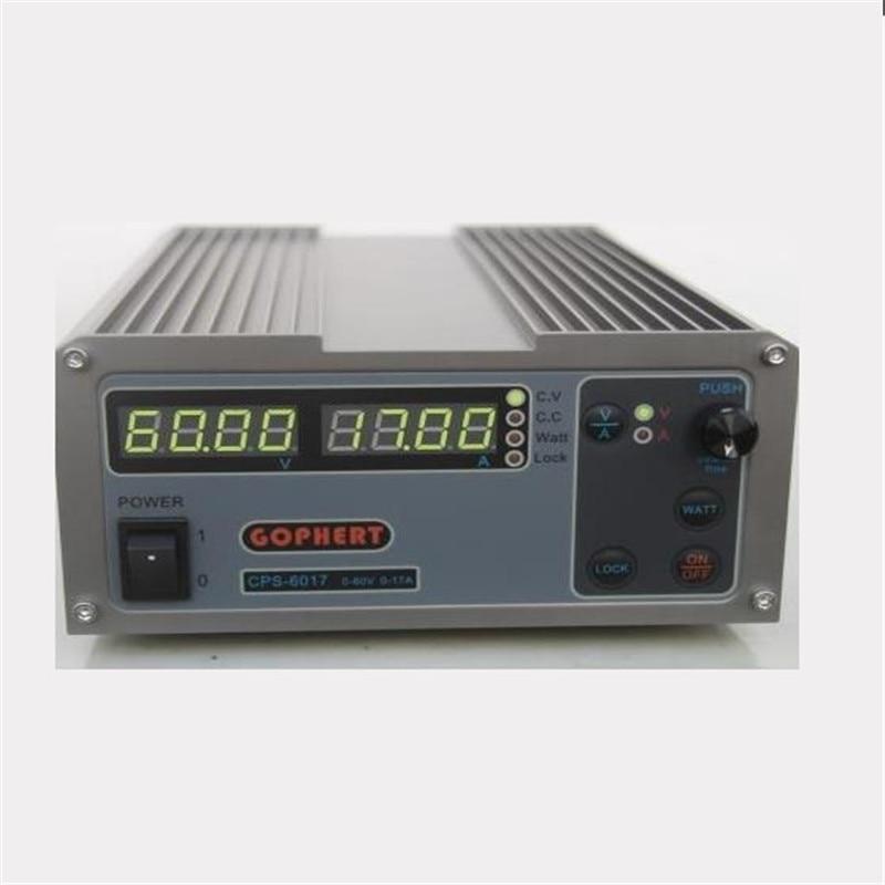 عالية الطاقة الرقمية قابل للتعديل تيار مستمر امدادات الطاقة CPS-6017 1000 واط 0-60 فولت/0-17A مختبر امدادات الطاقة