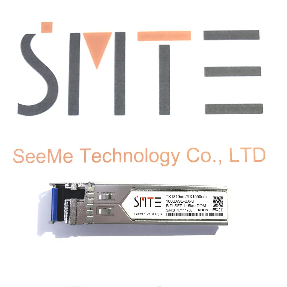 Compatible con H3C SFP-FE-LX-SM1310-BIDI 100BASE-BX BiDi SFP TX1310nm/RX1550nm 15km 100M DDM transceptor SFP módulo