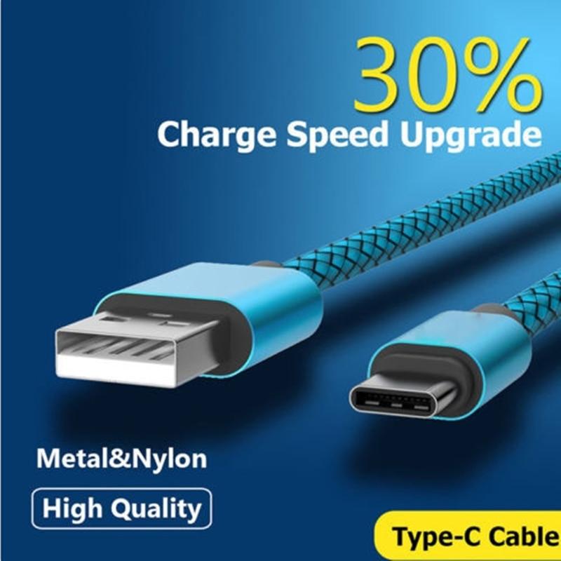 Cable USB tipo C para móvil, cargador rápido para huawei p20 lite...