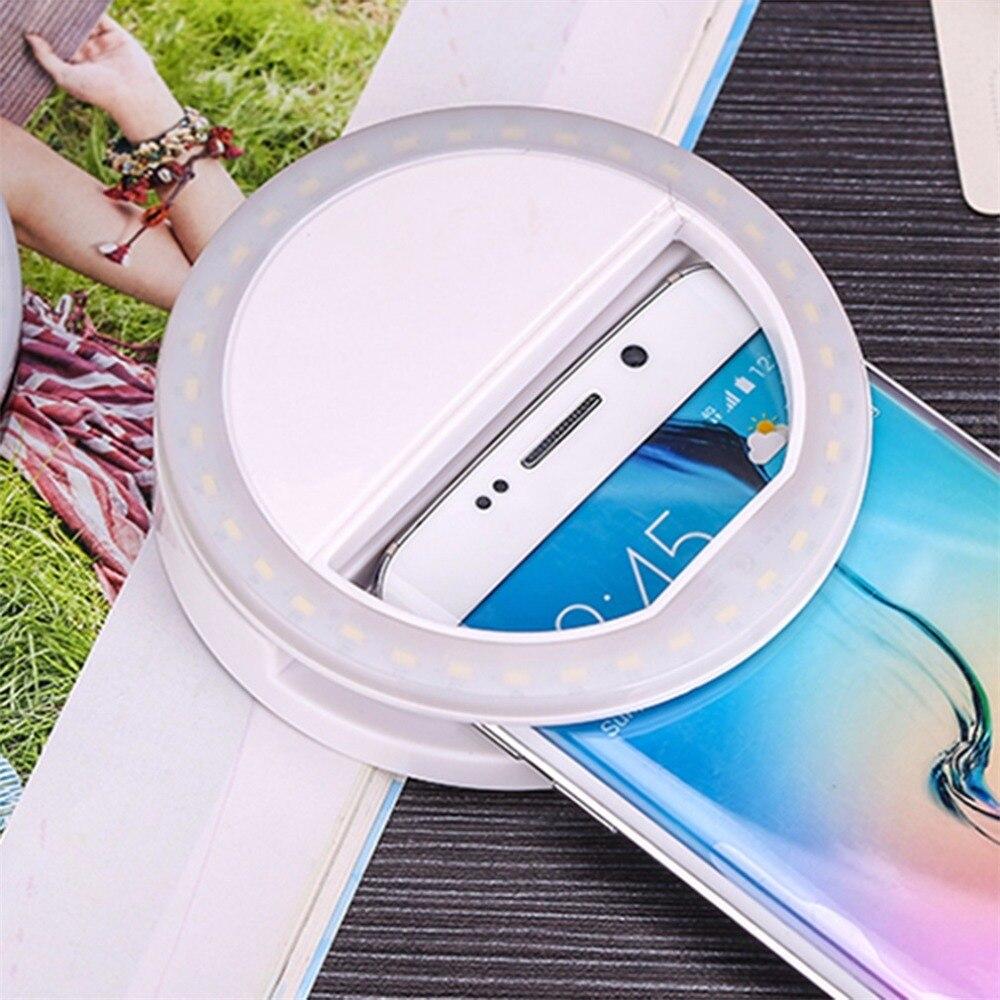 Teléfono Móvil LED Clip Selfie Flash luz teléfono inteligente portátil Selfie LED linterna Cámara anillo luz para IPhone Android teléfono