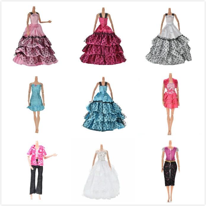 Un conjunto de ropa de muñeca Original vestido de novia falda de ocio vestido de fiesta para muñeca Original niña mejor regalo muñeca abrigo pantalones zapatos