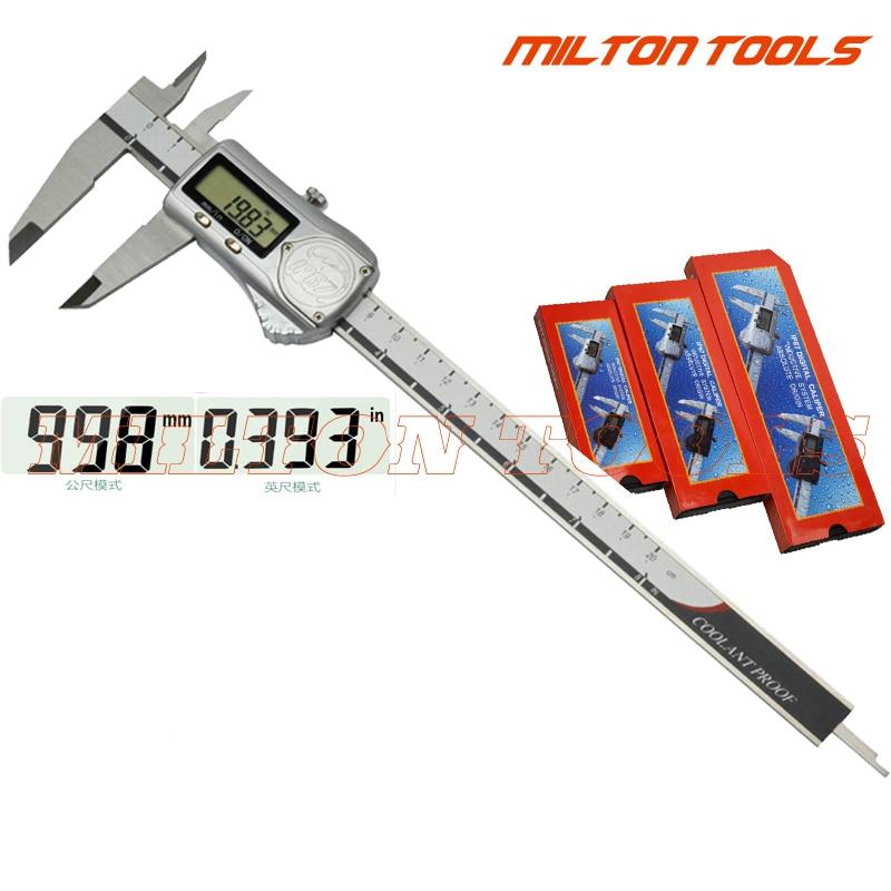 Calibrador Digital IP67 a prueba de agua 200mm 8 pulgadas carcasa metálica calibrador electrónico Vernier micrómetro 0-200mm