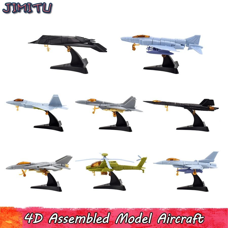 Mini brinquedos modelo de lutador 4d, militar, montar, aeronaves, helicóptero, feito à mão, modelos, kits, brinquedo para meninos, presentes educativos, decoração