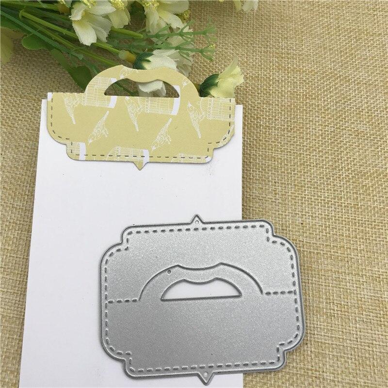 Caja de tarjetas de regalo, bolsa, topper, mango de cabeza, troqueles de corte de Metal para álbum de recortes DIY, papel gofrado, manualidades decorativas para tarjetas