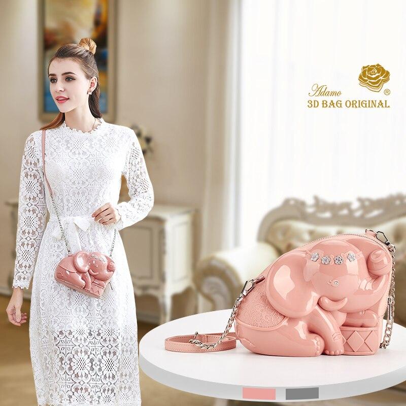 Adamo 3D Original Britta elefante Sling Bag Herald Fashion diseñador mujer bolso femenino bolsos