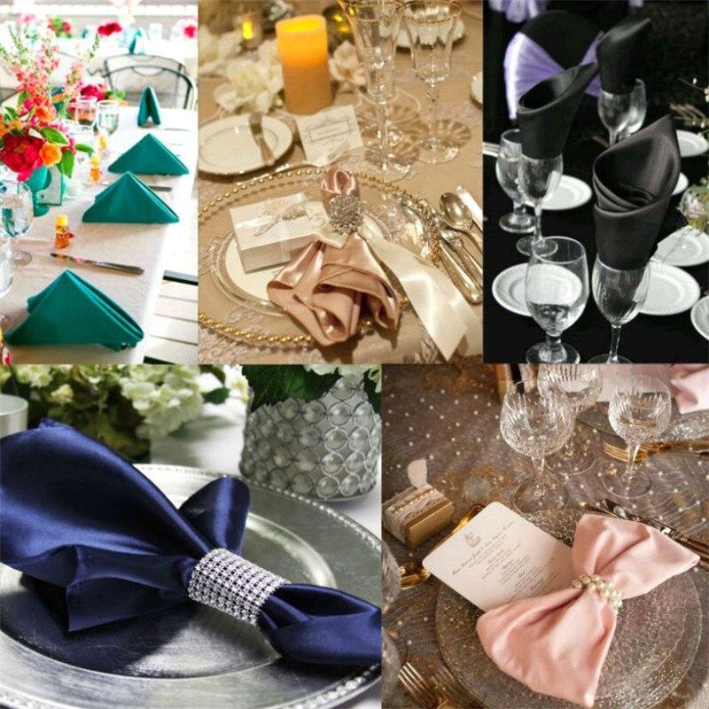 Anillo de toalla de diamante hueco de 8 filas 10 uds, hebillas para sillas, decoración de boda para evento Multicolor, suministros para fiestas hechas a mano