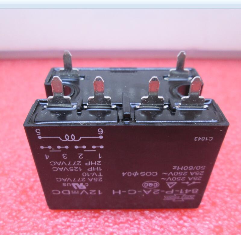 Relé nuevo de 841-P-2A-C-H-12VDC 841-P-2A-C-H 12VDC 841P2ACH 12VDC DC12V 12 V 25A 250 V 277VAC DIP6