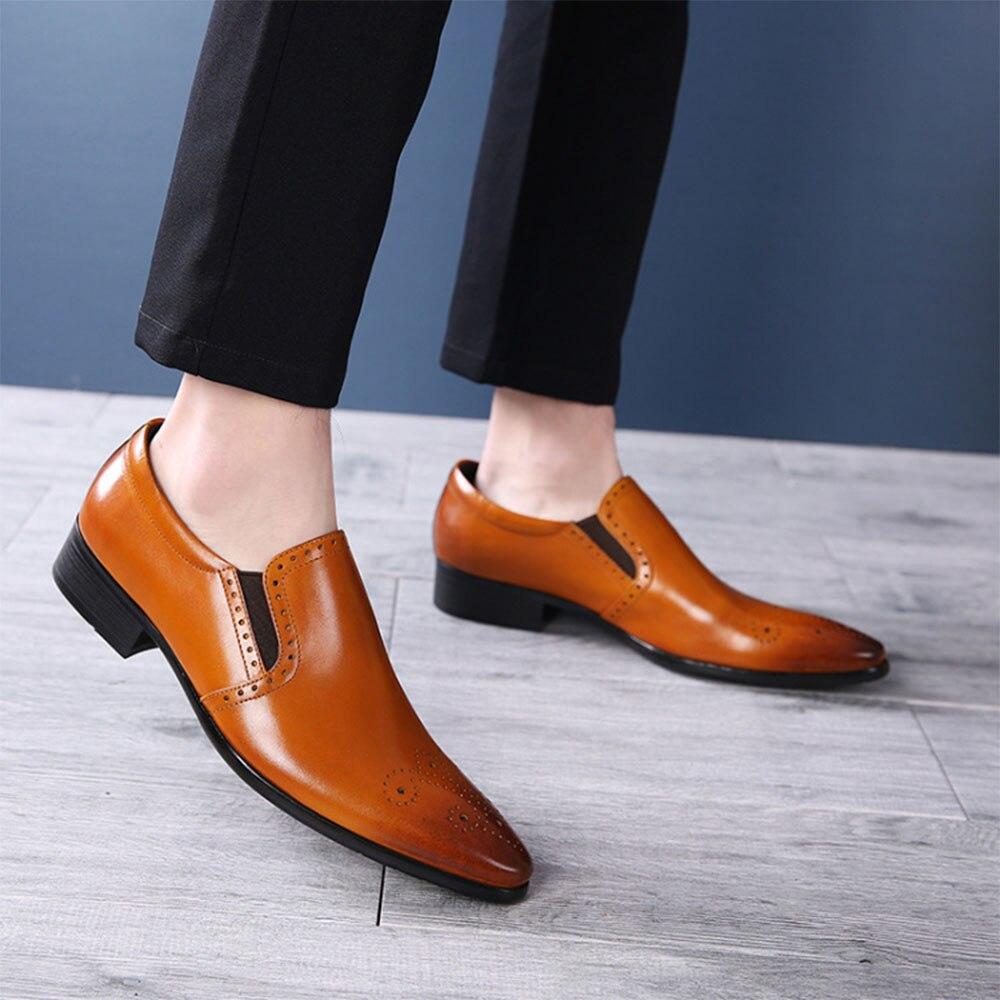 Sipriks masculino deslizamento-sobre fumar chinelo vestido sapatos de smoking formal masculino sapatos apontados senhores terno apartamentos masculino chefe mocassins elegante 44