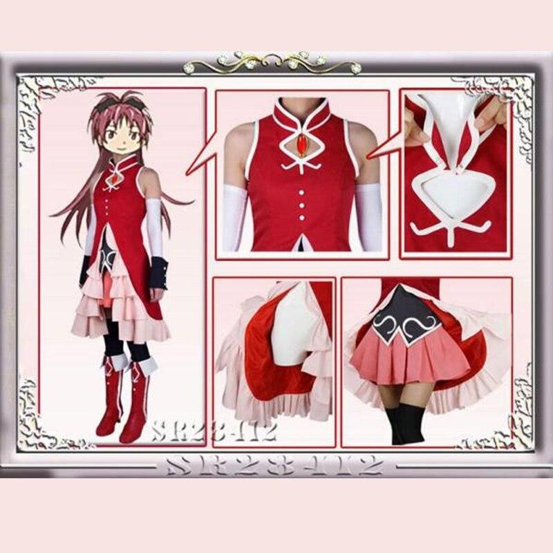 Fantasia e cosplay de kyoko magi madoka, vestido fantasia mágico para meninas, traje de halloween