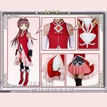 Puella Magi Madoka Magica Lolita Dress Kyoko Sakura Cosplay Makeovers Magical Girls Costume Full Suits Halloween Costumes Outfit