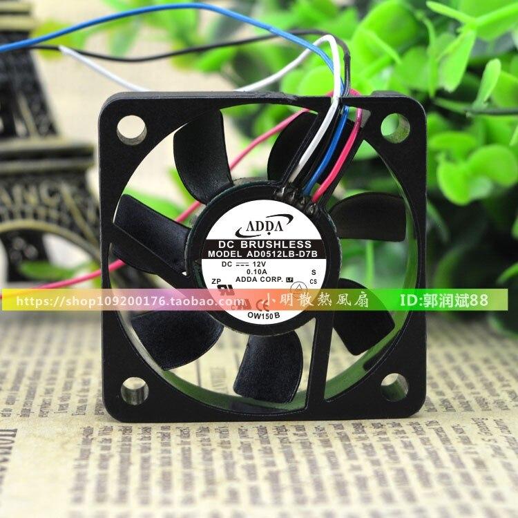 Ventilador refrigerador de CPU para AD5012LB-D7B 5015 12V 0.10A 5CM 50*50*15mm Cojinete de bolas Dual silencioso de enfriamiento de 4 pines