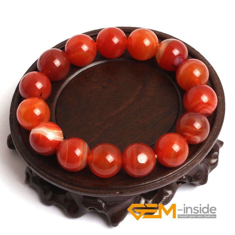 Bracelet cornaline Sardonyx rouge naturel: 4mm à 14mm Bracelet en pierre naturelle Bracelets pour femme énergétique pour cadeau livraison gratuite