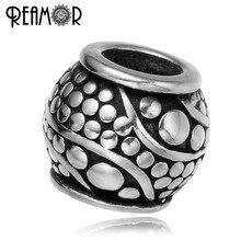 Perles de base antiques en acier inoxydable 316l Style poêle à bulles en acier inoxydable perles européennes breloques idéal pour bracelet fabrication de bijoux