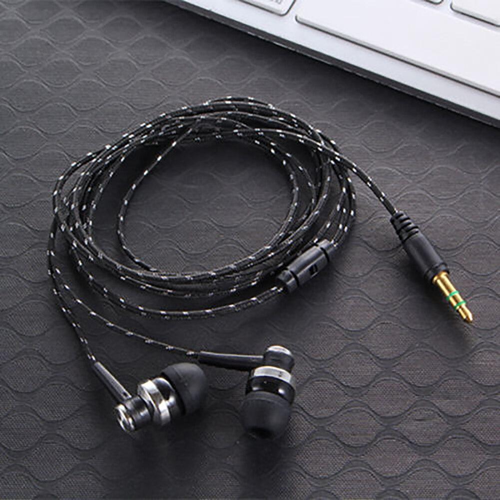 Recién llegado, auriculares estéreo en el oído con micrófono, negro, blanco, micrófono incorporado de alta calidad, auricular Doble
