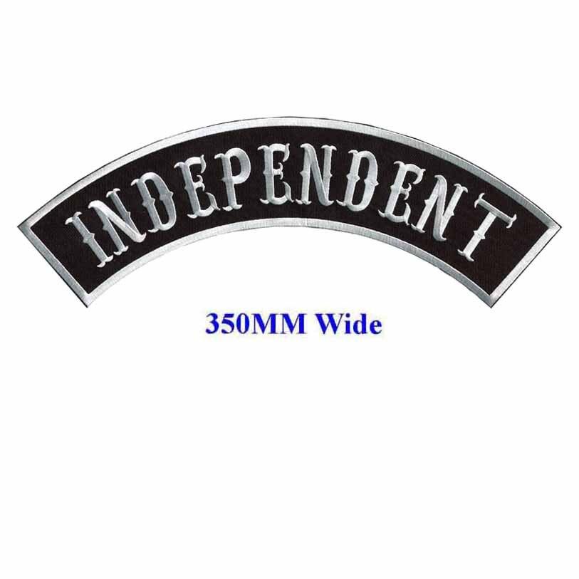 Parche de balancín independiente para parche de bordado trasero completo broche de acrílico de 350MM de ancho/parches cosidos/parche de motorista