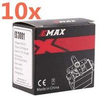 10 stück emax servo es3001 standard 43g servo motor für fernbedienung autos rc auto hubschrauber boot flugzeug (ES08A ES08MA ES08MD)