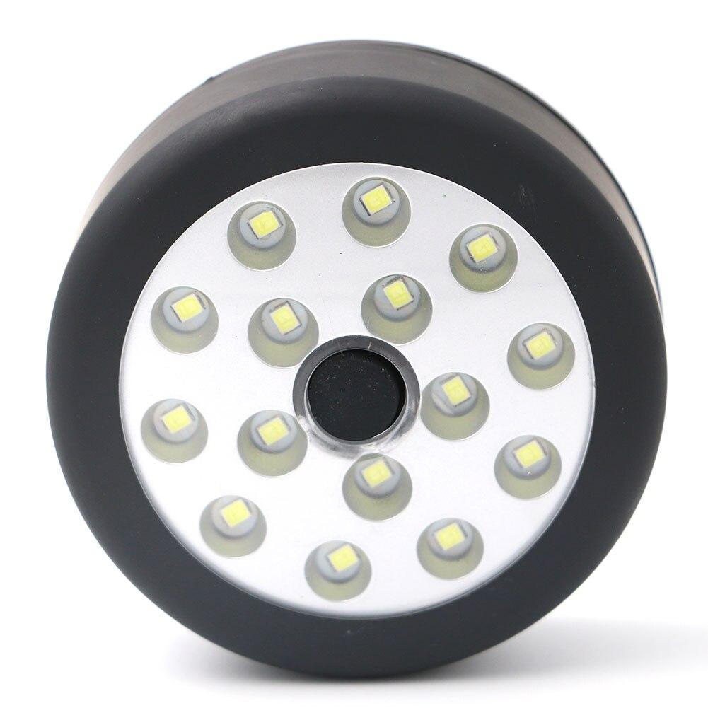Linterna portátil multifuncional con gancho plegable de 3 modos y 15 LED magnético, lámpara de bolsillo para Camping y acampada, con batería AA