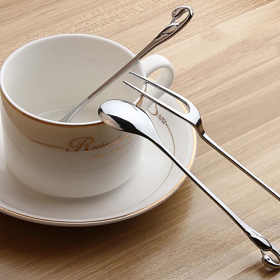 Vajilla estilo real clásico tenedor para trinchar cuchara de Navidad pequeño Dork para aperitivos dulces accesorios de cocina suministro de restaurante 5