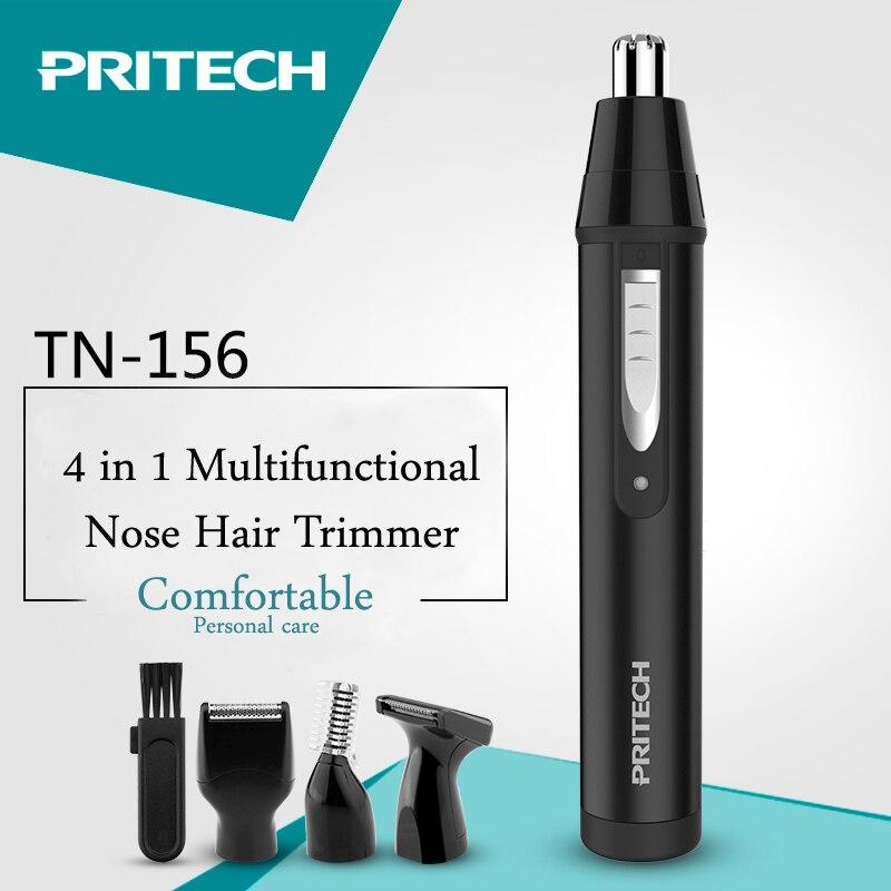 Recortador de pelo PRITECH 4 en 1 para hombres, cortador de cejas profesional, cortador de pelo de los oídos, Afeitadora eléctrica portátil para el cuidado de la cara