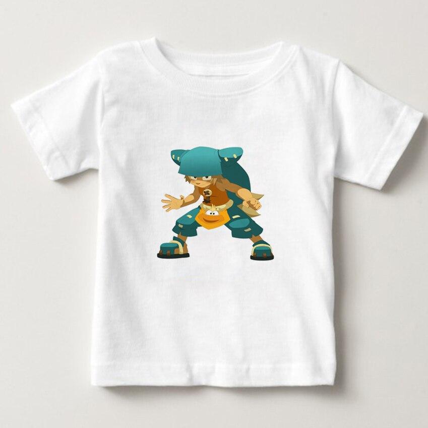 Wakfu game T-Shirt 2-14Y children cartoon T Shirt 100% Cotton Boys Girls Short Sleeve Tees kids baby summer cool O-Neck tops  NN